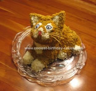 Homemade Kitten Cake