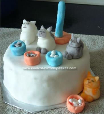 Homemade Kitten Tails Cake