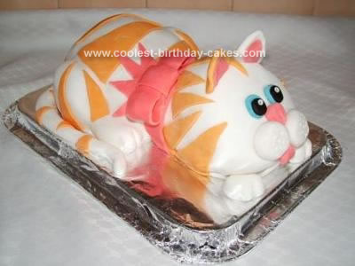 Homemade Kitty Cat Cake