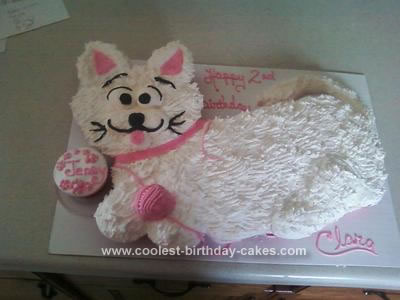 Homemade Kitty Cupcake Cake