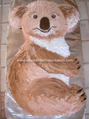 Homemade Koala Cake For Nicholas