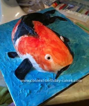 Homemade Koi Cake Design
