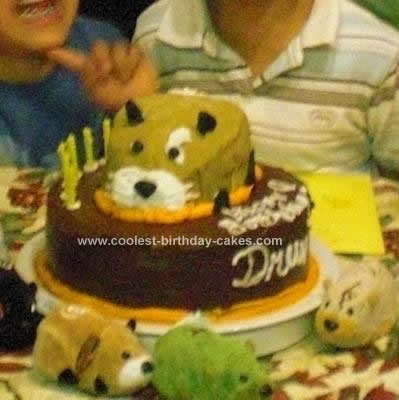 Homemade Kung Zhu Hamster Birthday Cake