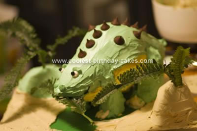 Homemade Land Before Time Spike Cake