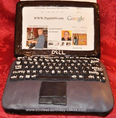 Homemade Laptop Cake