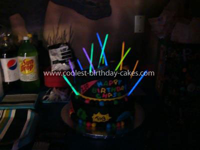 Coolest Laser Tag Birthday Cake