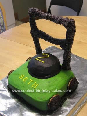 Lawn Mower Cakes 1