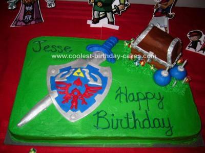 Coolest Legend Of Zelda Birthday Cake 2