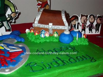 Homemade Legend of Zelda Birthday Cake