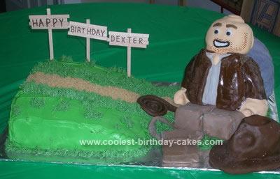 Homemade Lego Indiana Jones Birthday Cake Design