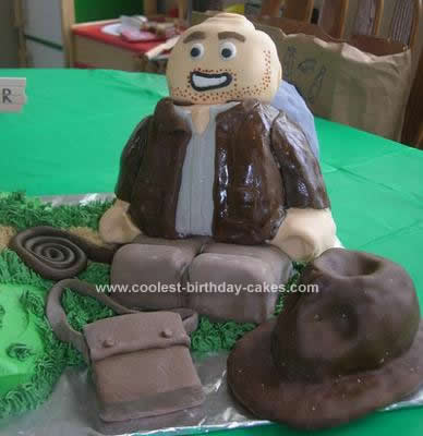 Homemade Lego Indiana Jones Birthday Cake Design