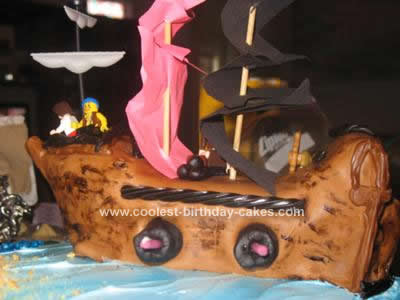 Homemade Lego Pirate Adventure Cake