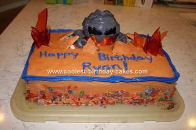 Homemade Lego Power Miners Birthday Cake