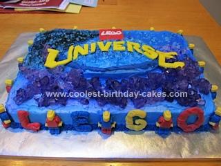 Homemade Lego Universe Cake