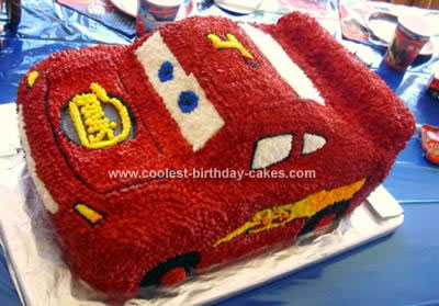 Lightning Mcqueen Themed Cakes a Lightning Mcqueen Themed
