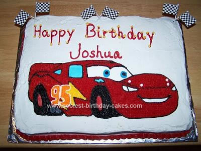 Lightning Mcqueen Sheet Cake Homemade lightning mcqueen
