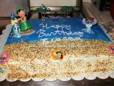 Castle Birthday Cake on Coolest Lilo   Stitch Birthday Cake 9