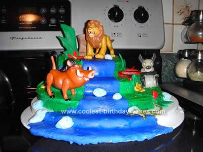 Homemade Lion King Birthday Cake