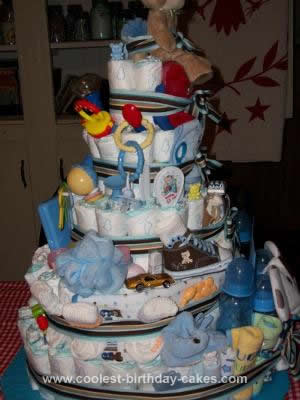 Homemade Little Boy Diaper Cake
