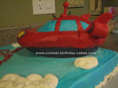 Homemade  Little Einstein Rocket Birthday Cake