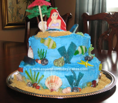 Coolest Little Mermaid Birthday Cake 81