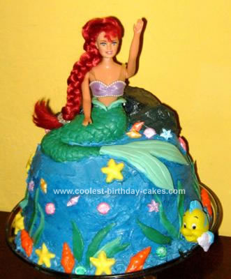 The Little Mermaid Birthday Cake Fondant. by Jackie K. Homemade Little