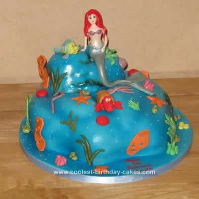 Mermaid Birthday Cake on Coolest Little Mermaid Cake 162