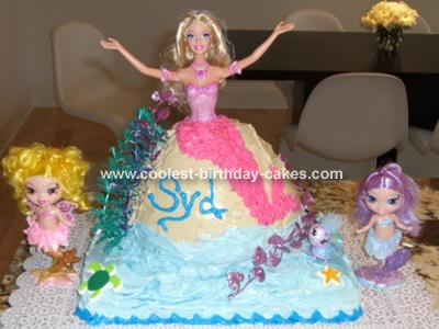Mermaid Birthday Cake on Barbie Mermaidia