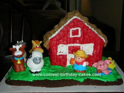Little People Farm Cake