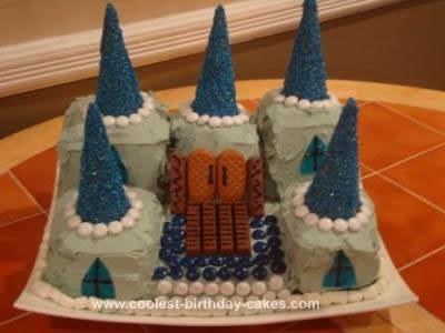 Homemade Little Prince Castle Cake