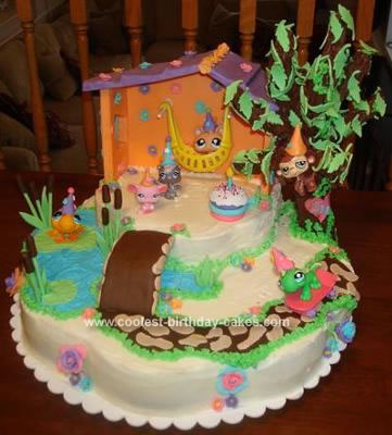Homemade Littlest Pet Shop Toys Cake
