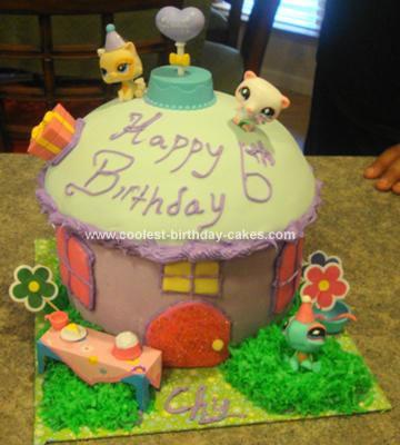 Homemade Littlest Petshop House Birthday Cake