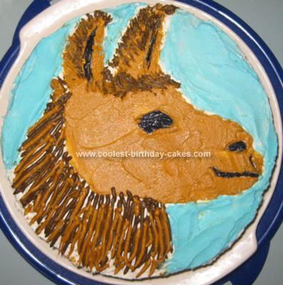 Homemade Llama Cake