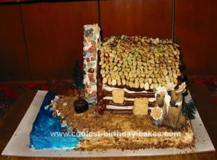 Homemade Log Cabin Cake