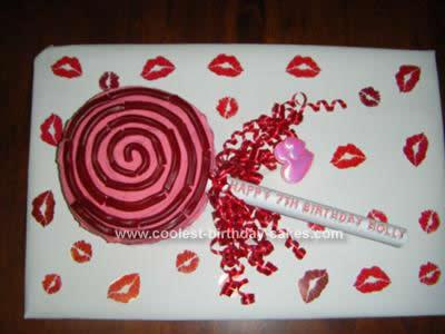 Homemade Lollipop Cake