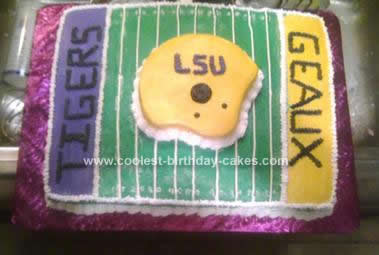 Homemade LSU Football Cake Design