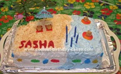Luau Beach Party Cake