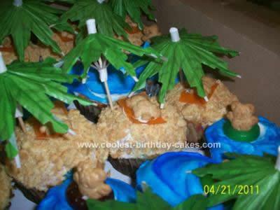 Homemade Luau Cupcakes