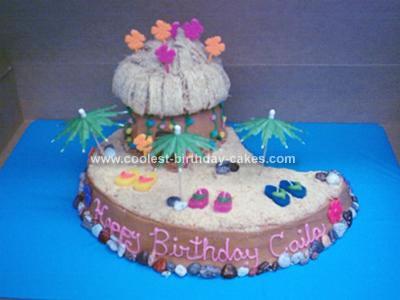 Homemade Luau Island Cake