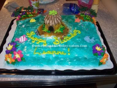 Homemade Luau Paradise Cake