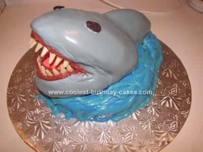Homemade  Man-Eating Shark Cake Idea