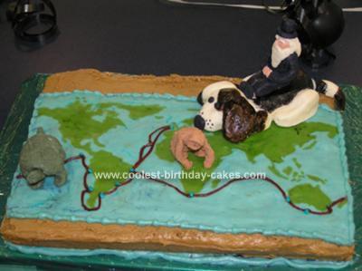 Homemade Darwin's Map Cake