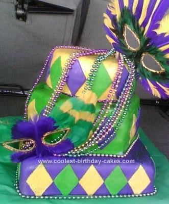 Mardi Gras Cake For Your Birthday