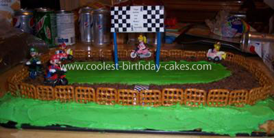 Super Mario Birthday Cake on Coolest Mario Karts Cake 98