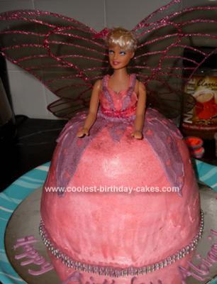 Homemade Mariposa Barbie Cake