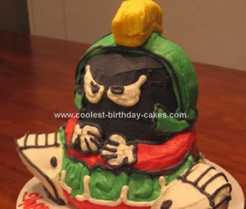 Homemade Marvin The Martian Cake
