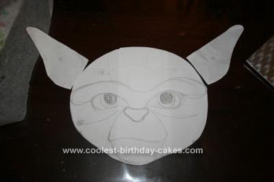 Homemade  Master Yoda Birthday Cake