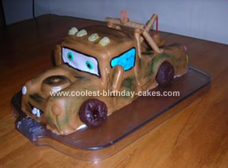 Homemade Mater Birthday Cake