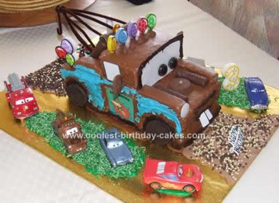 Coolest Mater Birthday Cake 39