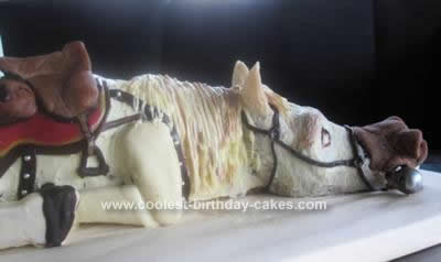 Homemade Maximus Horse Cake
